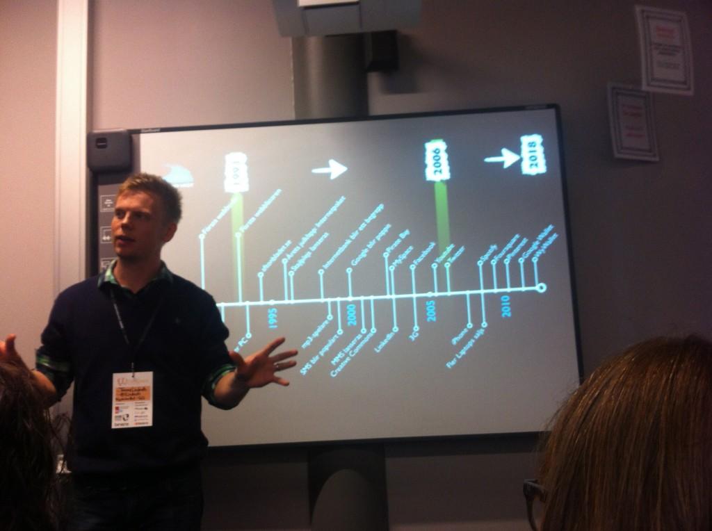 Tobias Linderoth session om framtidens kompetens, tidslinjen